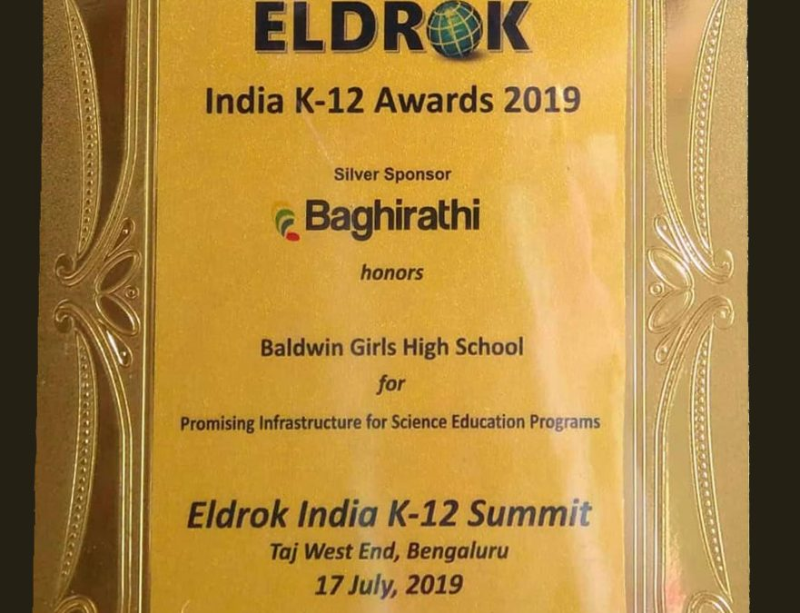 ELDROK INDIA K12 Award 2019